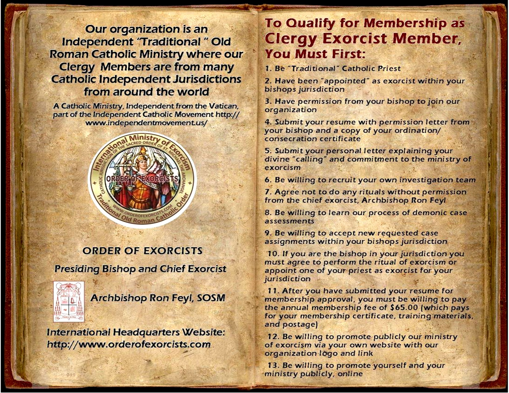 Membership information for appointed exorcist clergy members solutioingenieria Gallery